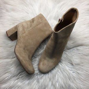 Naturalizer Tan Suede Booties 10W